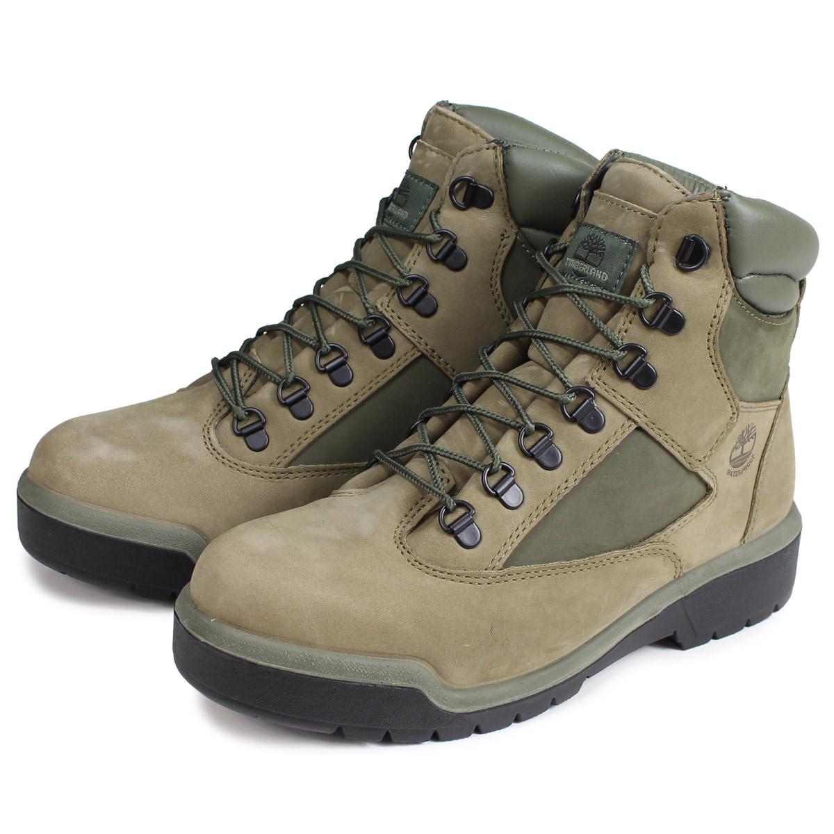 Timberland 6-INCH FIELD BOOT ティンバーランド ブーツ 6インチ メンズ Mワイズ ライトグリーン A1RBP