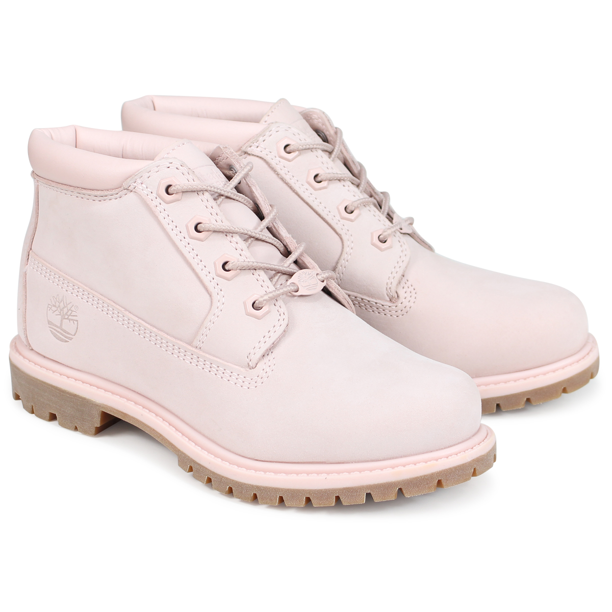 Timberland NELLIE CHUKKA DOUBLE ティンバーランド チャッカ レディース ブーツ A1S7S Wワイズ ライトピンク