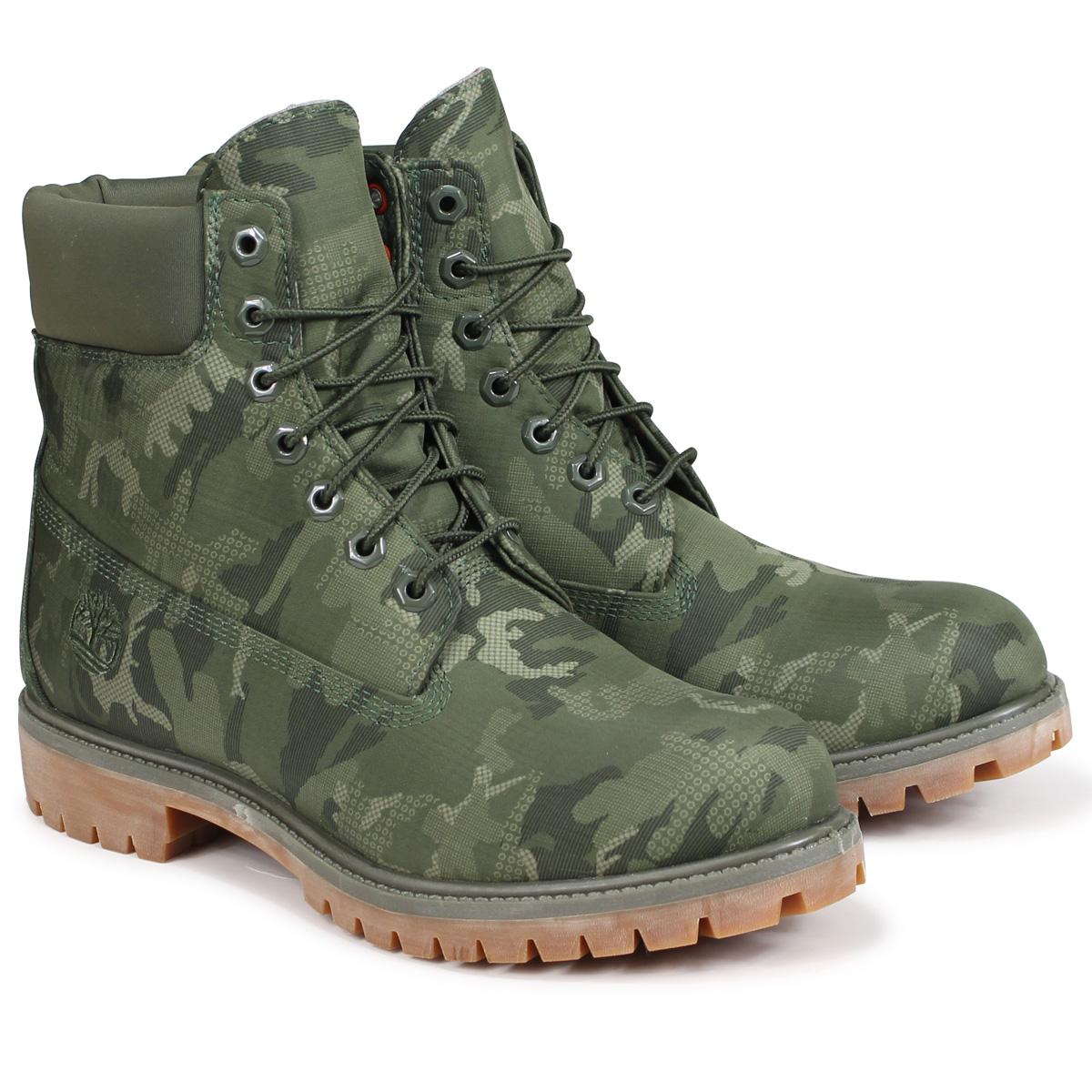 Timberland 6-INCH PREMIUM FABRIC BOOTS ティンバーランド ブーツ メンズ 6インチ A1U9I Wワイズ ダークグリーン
