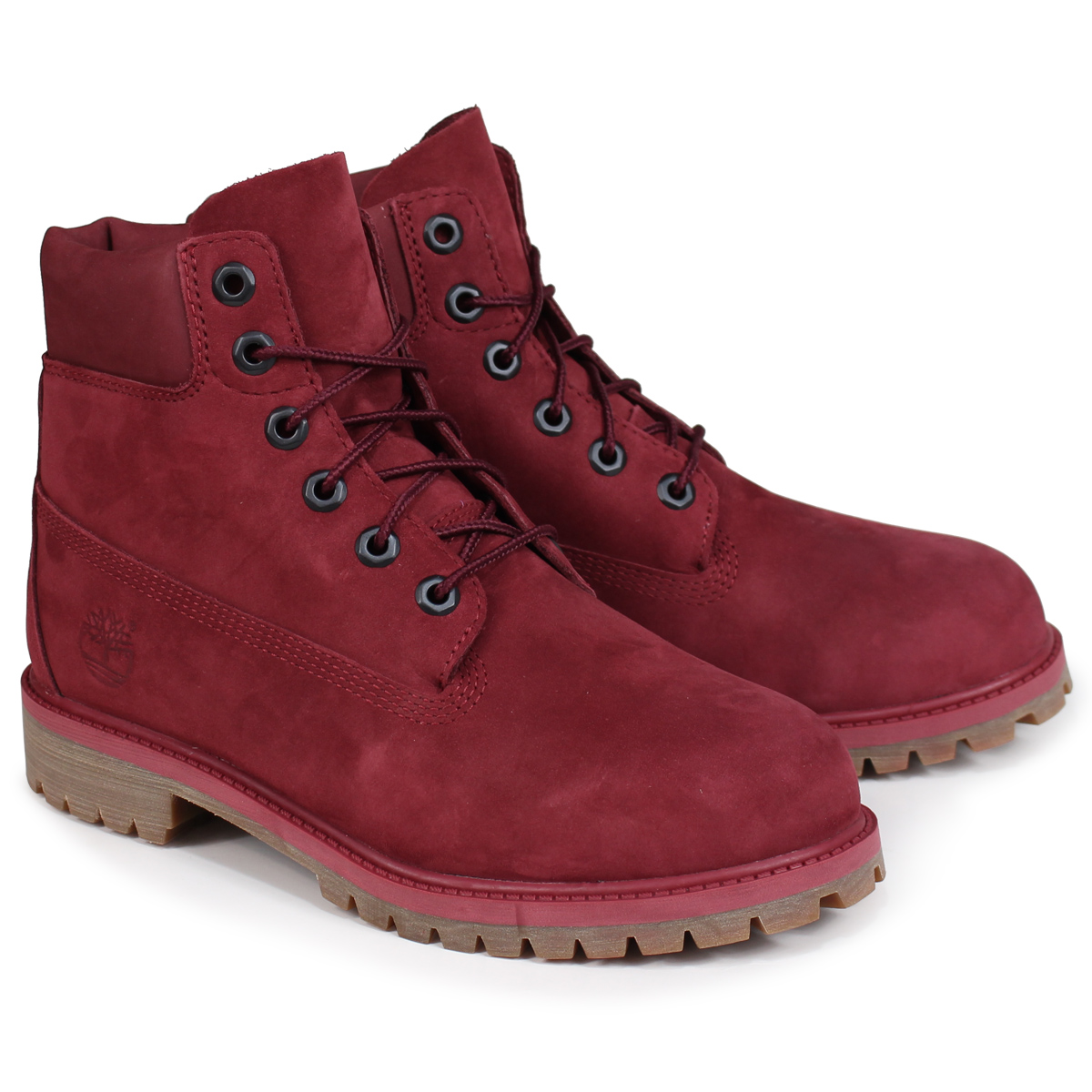 Timberland JUNIOR 6INCHI PREMIUM WATERPROOF BOOT Timberland Lady's boots 6 inches kids A1VCK W Wise waterproofing wine red
