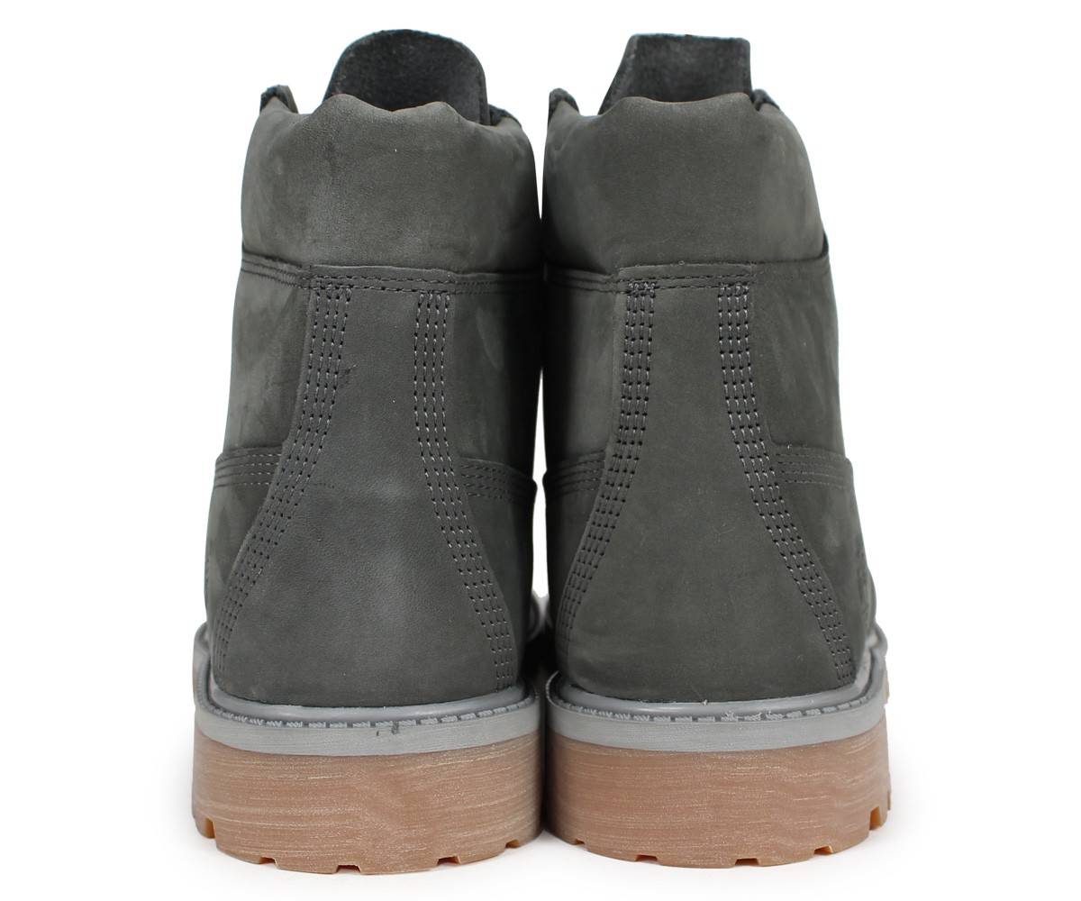 Timberland boots Lady's 6 inches Timberland kids JUNIOR 6 INCH PREMIUM WATERPROOF BOOTS A1VD7 W Wise dark gray