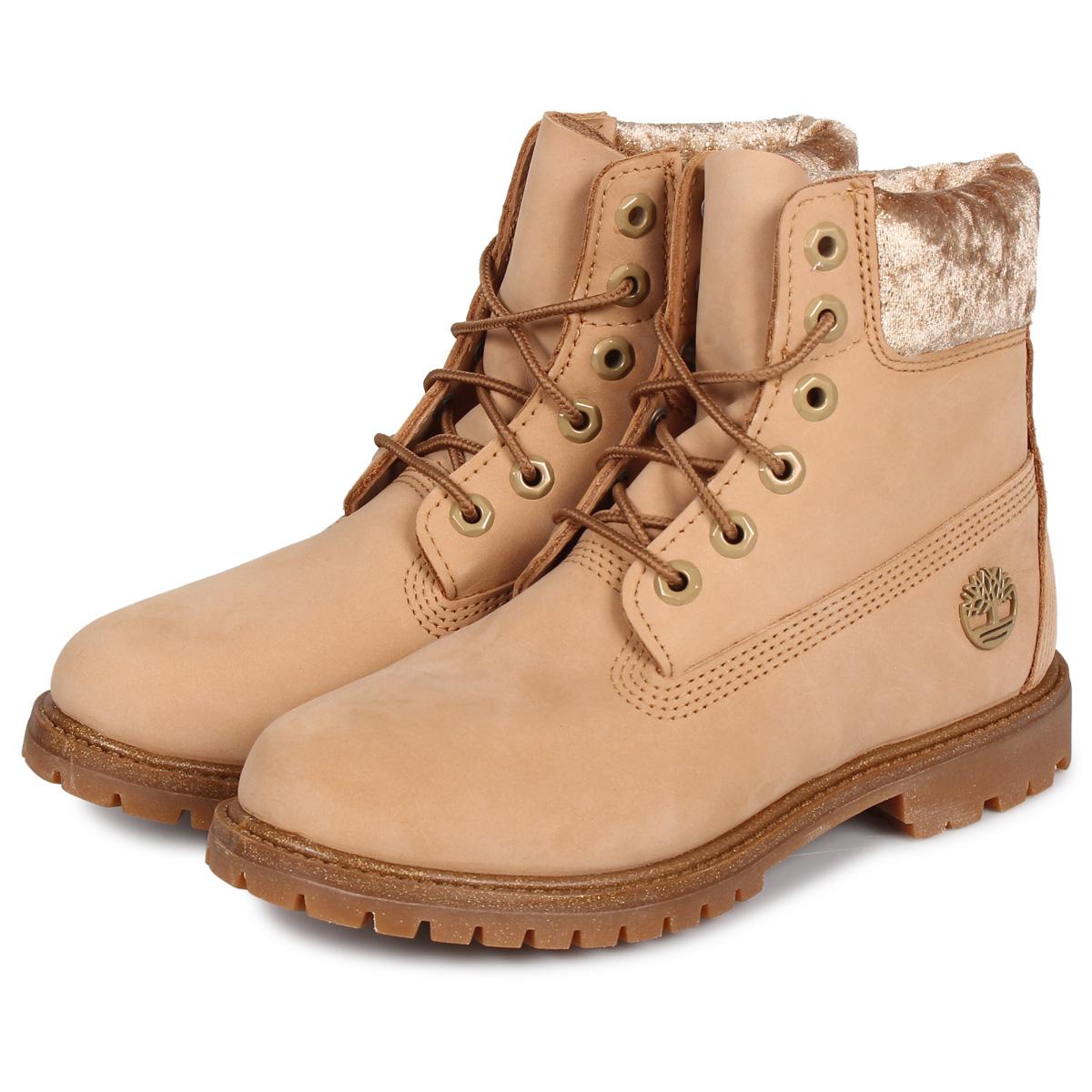 Timberland WOMENS ICON 6INCH F/L WATERPROOF BOOTS ティンバーランド ブーツ 6インチ ウォータープルーフ レディース ベージュ A21XE