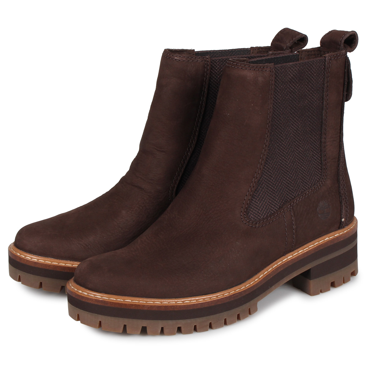 Timberland WOMENS COURMAYEUR VALLEY CHELSEA BOOTS Timberland boots Lady's Chelsea side Gore cool Maillol valley dark brown A23WU