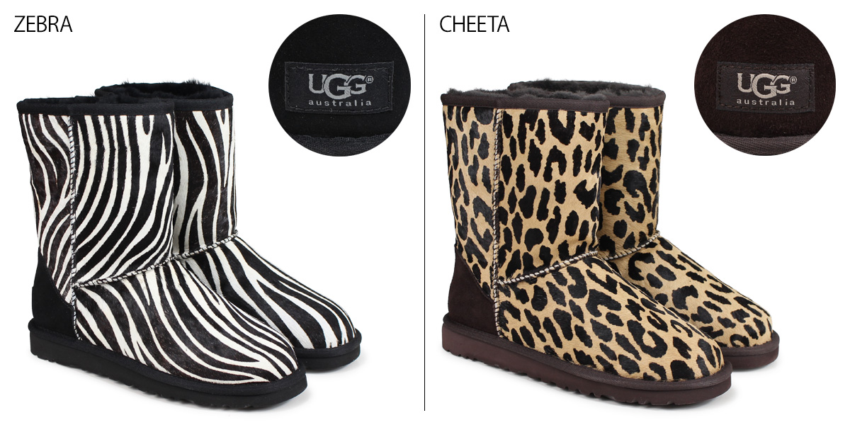6e07ec8ed33 UGG Ugg Classic short Shearling boots WOMENS CLASSIC SHORT EXOTIC 1002790  Sheepskin ladies