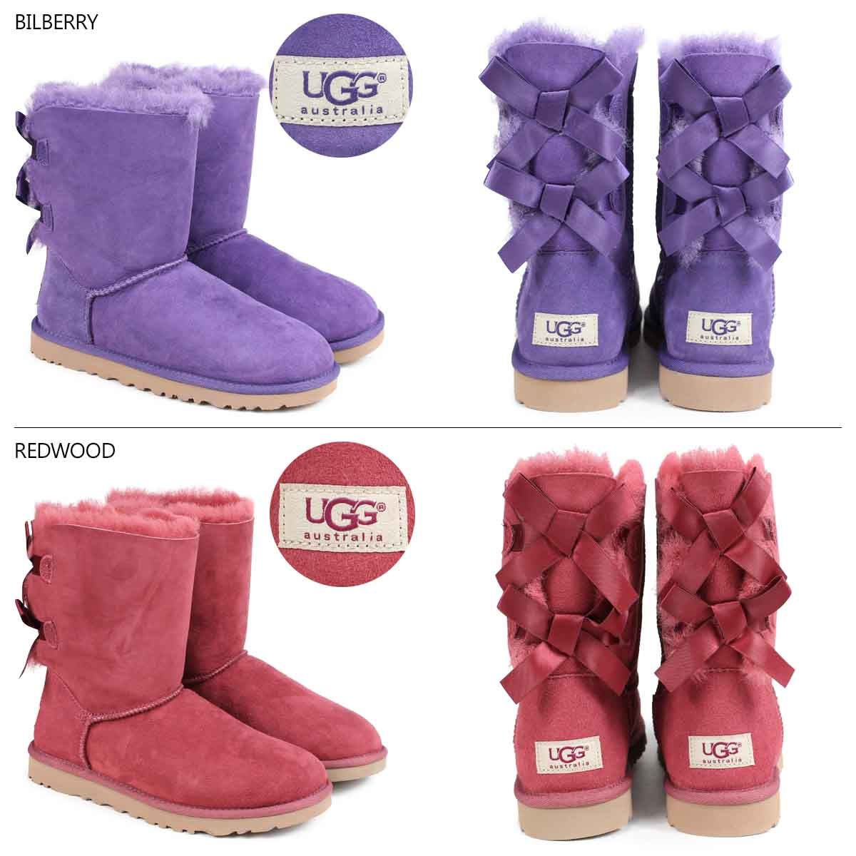 bailey bow red uggs