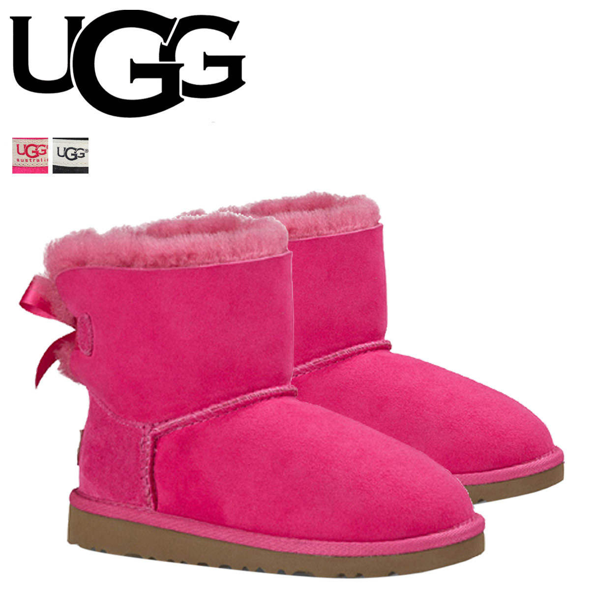 d1f9a365741 UGG Ugg Classic mini Sheepskin boots kids MINI BAILEY BOW 1005497T  Sheepskin toddler [10 / 31 new in stock]