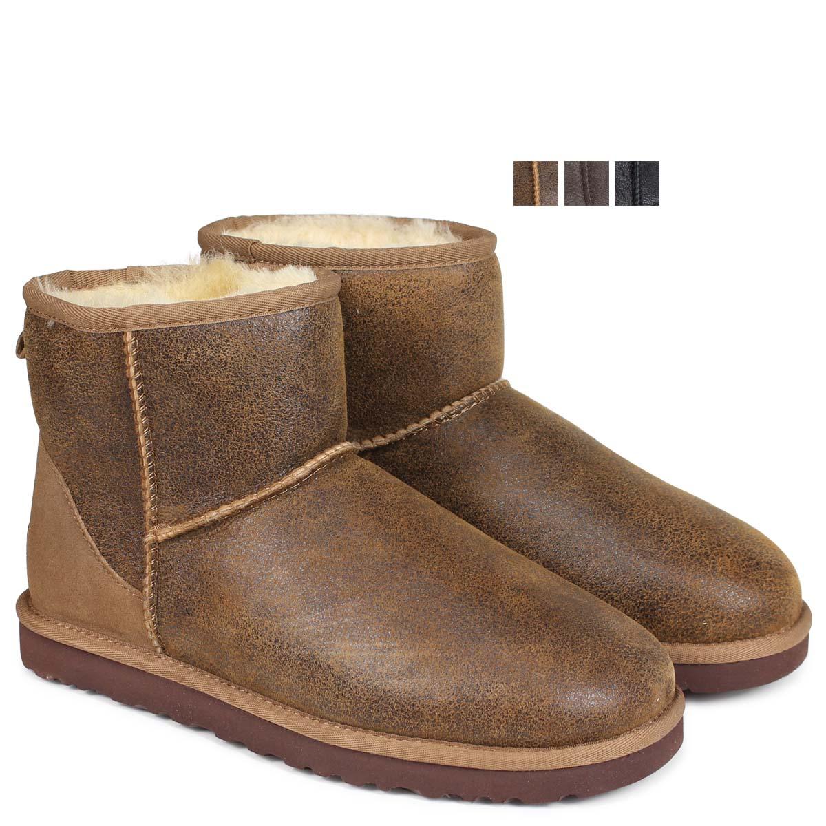 90072fafcce アグ UGG men classical music mini-mouton boots MENS CLASSIC MINI BOMBER  1007307 sheepskin