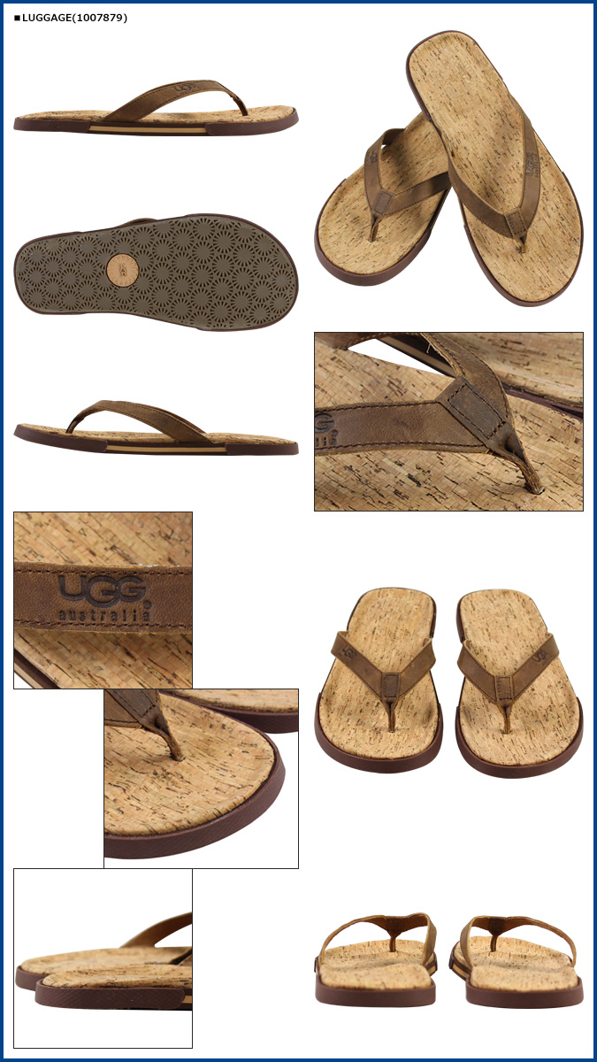 ef64ce7e45c [SOLD OUT] UGG UGG men's Bennison 2 Cork sandal thong Sandals MENS BENNISON  II CORK Beach Sandals flip flop 1007879 nubuck Cork