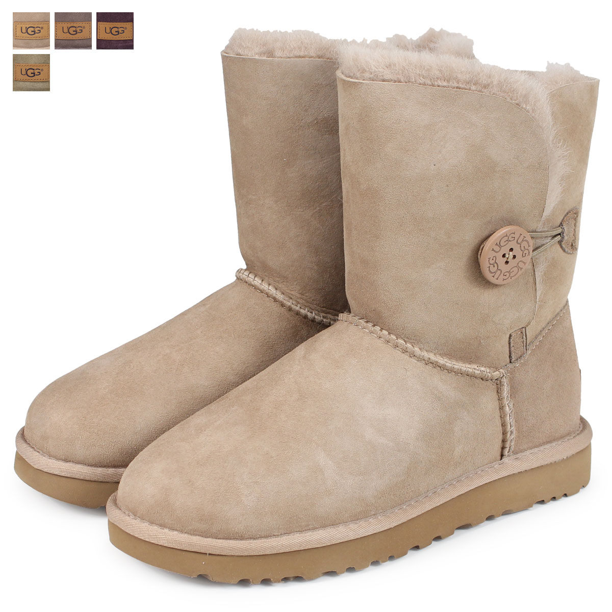 dcc350a7285 UGG WOMENS BAILEY BUTTON II アグムートンブーツベイリーボタン 2 Lady's 1016226 [load planned  Shinnyu load in reservation product 11/1 ...