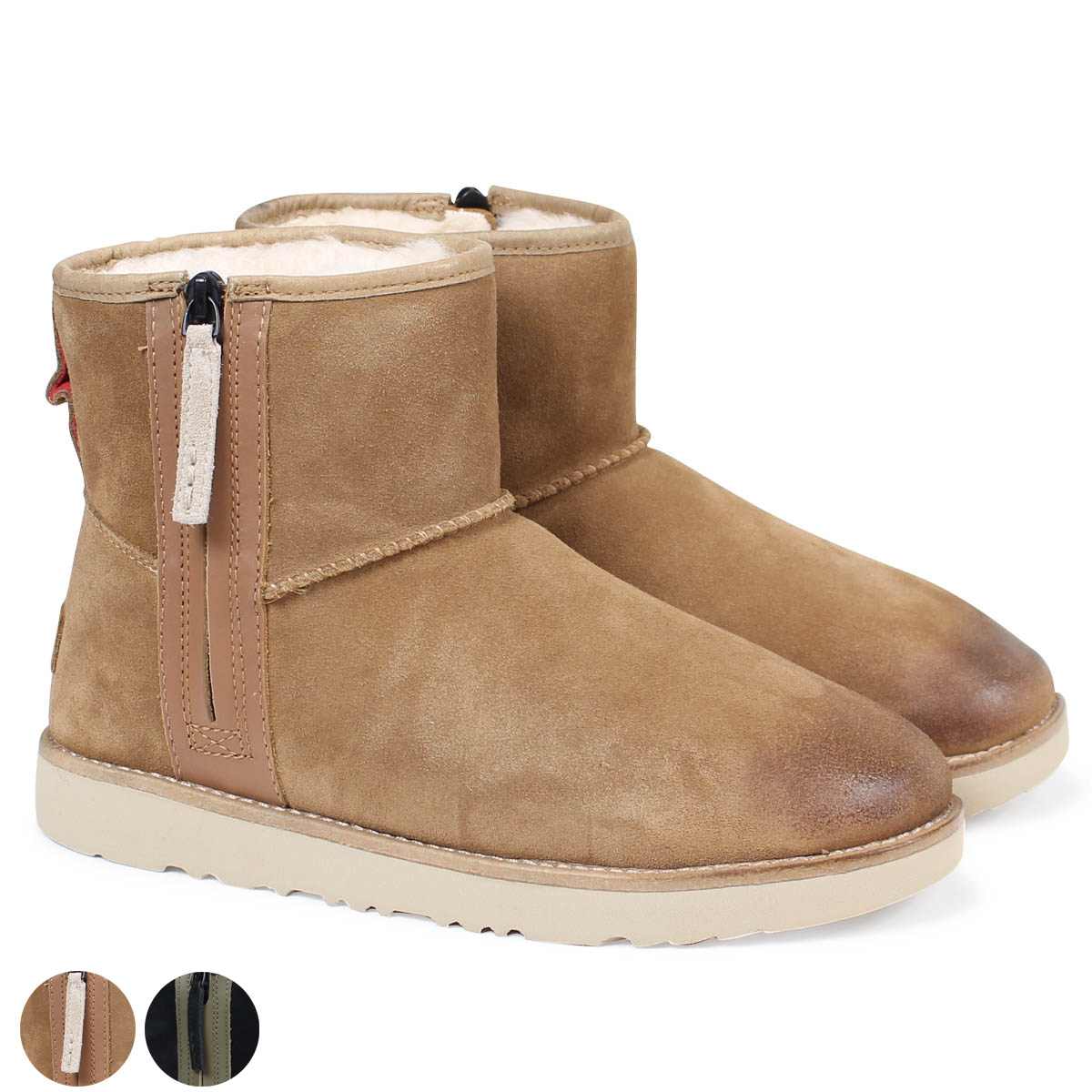 UGG MENS CLASSIC MINI ZIP WATERPROOF アグクラシックミニムートンブーツメンズ 1018453 sheepskin suede [11/15 Shinnyu load]