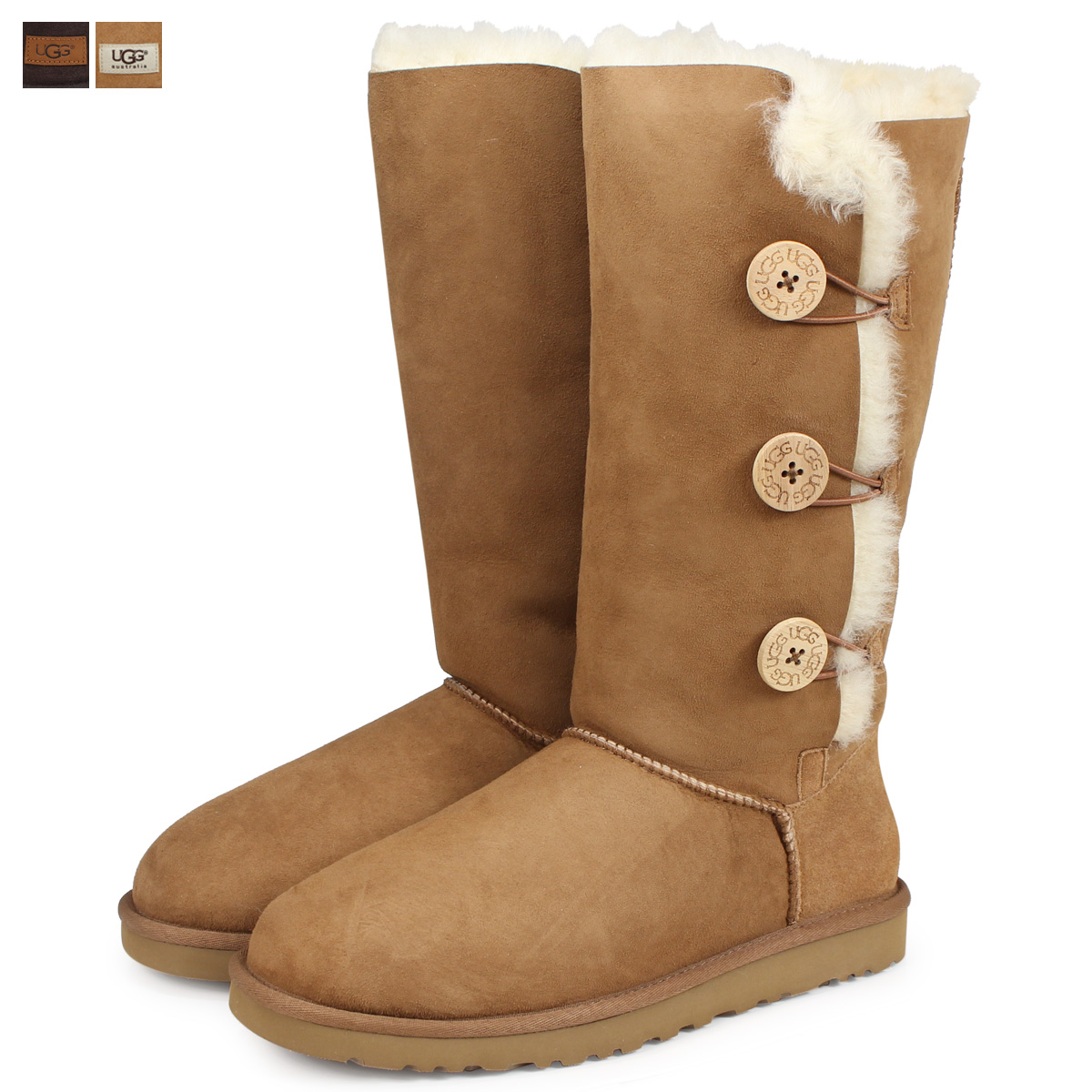 42139f637b5 アグ UGG Lady's WOMENS BAILEY BUTTON TRIPLET 2 mouton boots Bailey button  triplet 2 1873 1016227