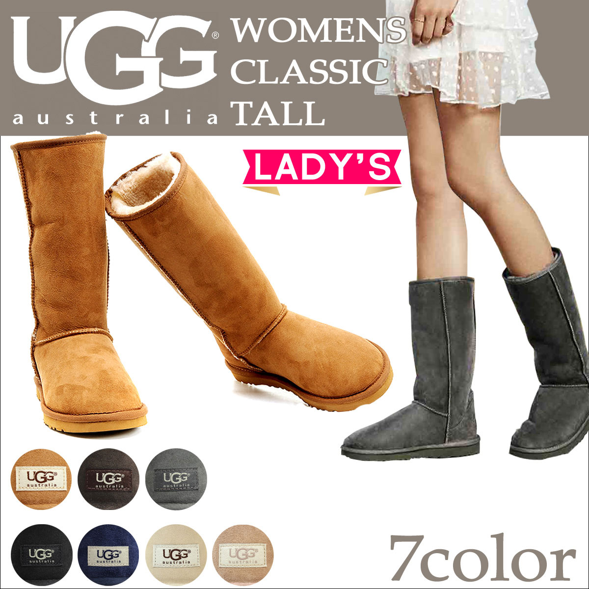 UGG Ugg Classic Tall Sheepskin boots WOMENS CLASSIC TALL 5815 Sheepskin women's
