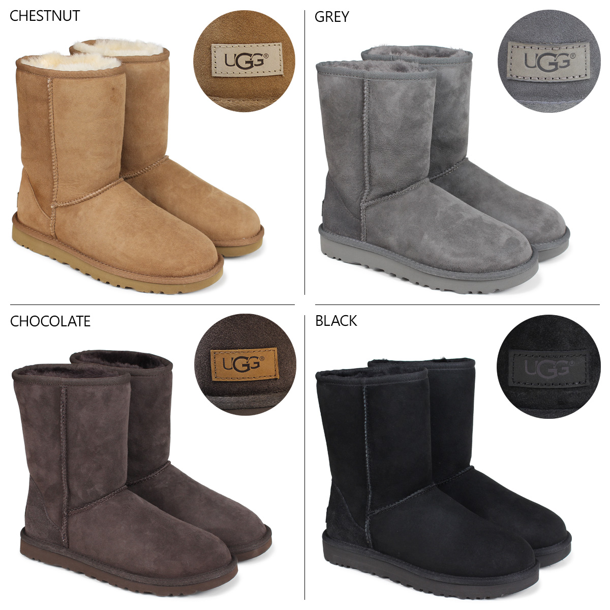 Whats Up Sports Ugg Ugg Classic Short Shearling Boots Womens