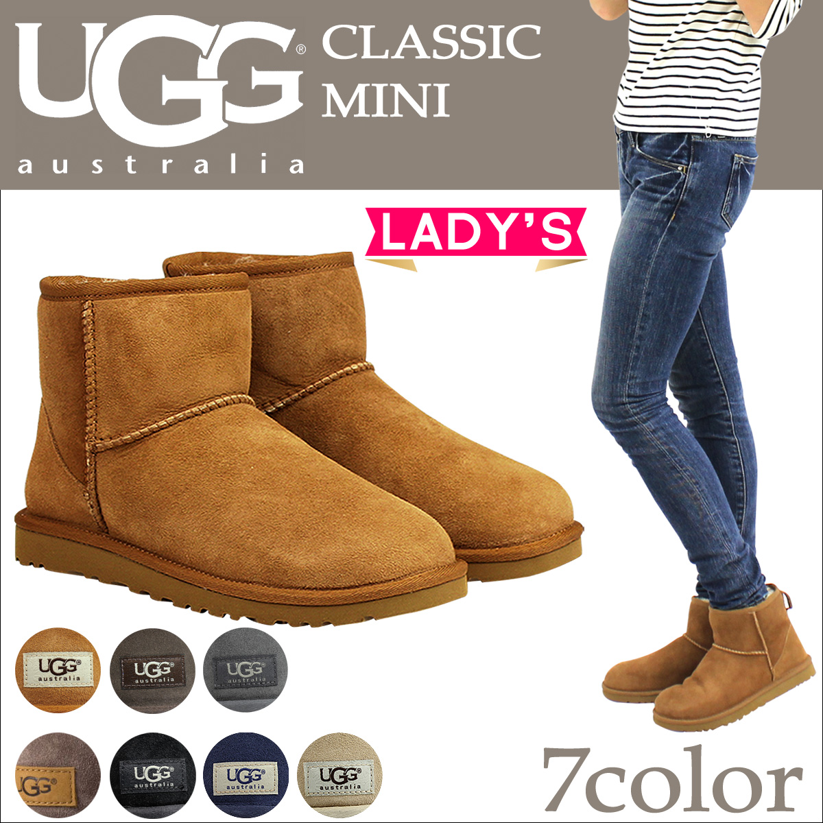 UGG Ugg Classic mini Sheepskin boots WOMENS CLASSIC MINI 5854 Sheepskin ladies