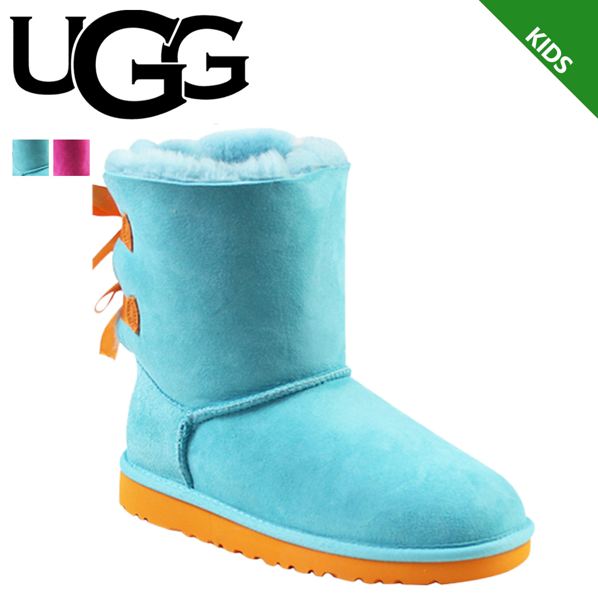 UGG UGG kids Bailey bow boots KIDS BAILEY BOW 3280KK 3280YK Sheepskin ladies