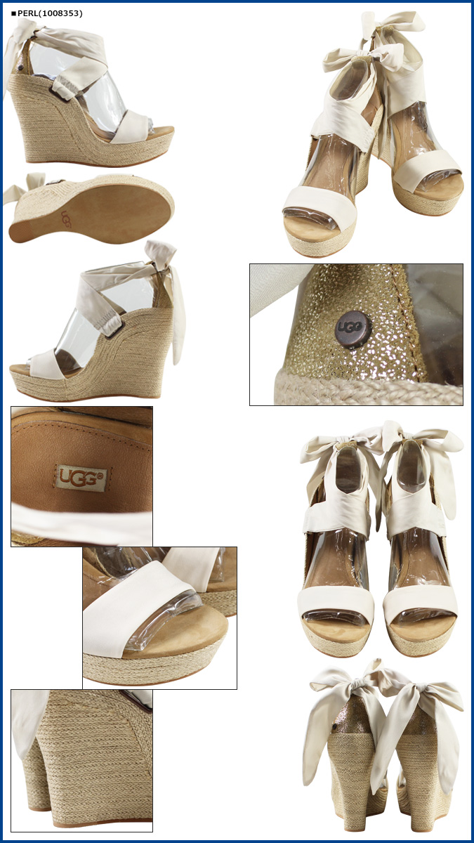 a1009ef184f9 UGG UGG Jules Sandals wedge Sandals WOMENS JULES 1008353 1008354 leather  jute ladies