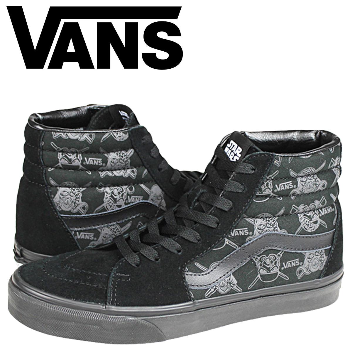 VANS vans Star Wars sneakers collaboration STARWARS SK8 HI VN 0TS9EX8 men's women's shoes black
