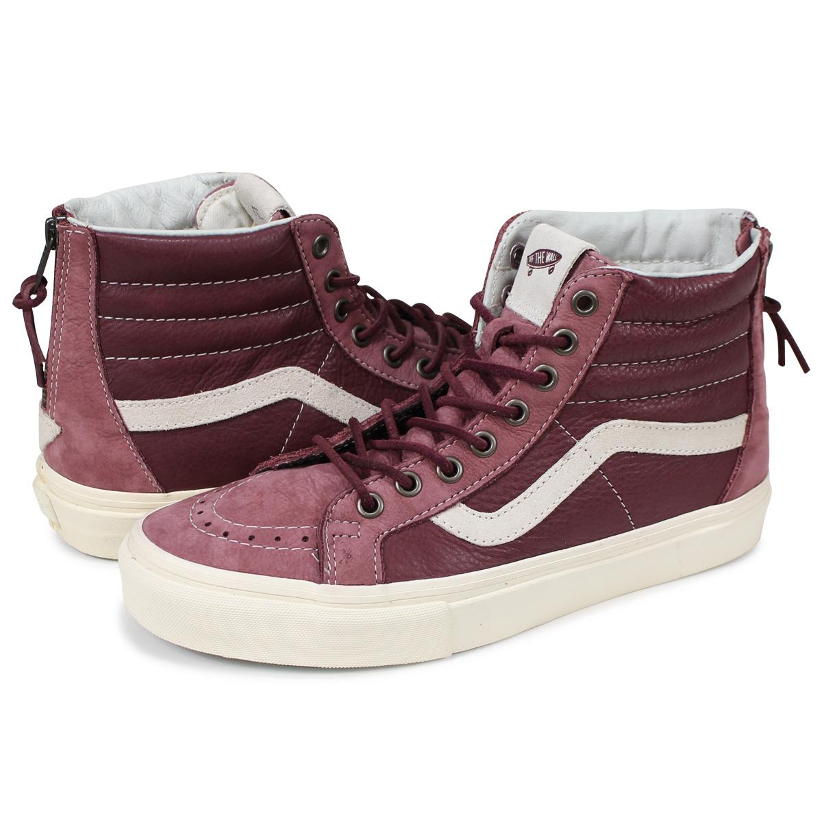 VANS SK8-HI VAULT REISSUE ZIP LX sneakers men vans station wagons skating  high VN0VOMDY6 wine red [6/16 Shinnyu load]