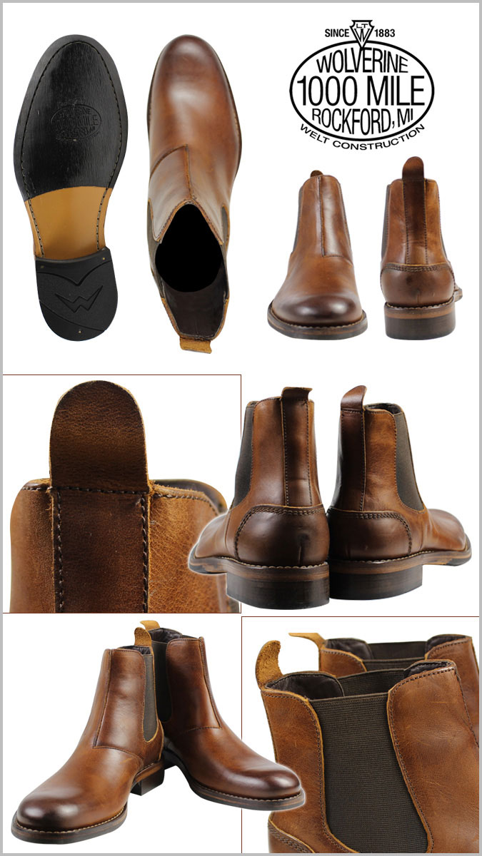 17433eabf66 WOLVERINE Wolverene 1,000 miles side Gore boots MONTAGUE 1000 MILE CHELSEA  BOOT D Wise W00922 tongue Chelsea boot men [the load planned additional ...