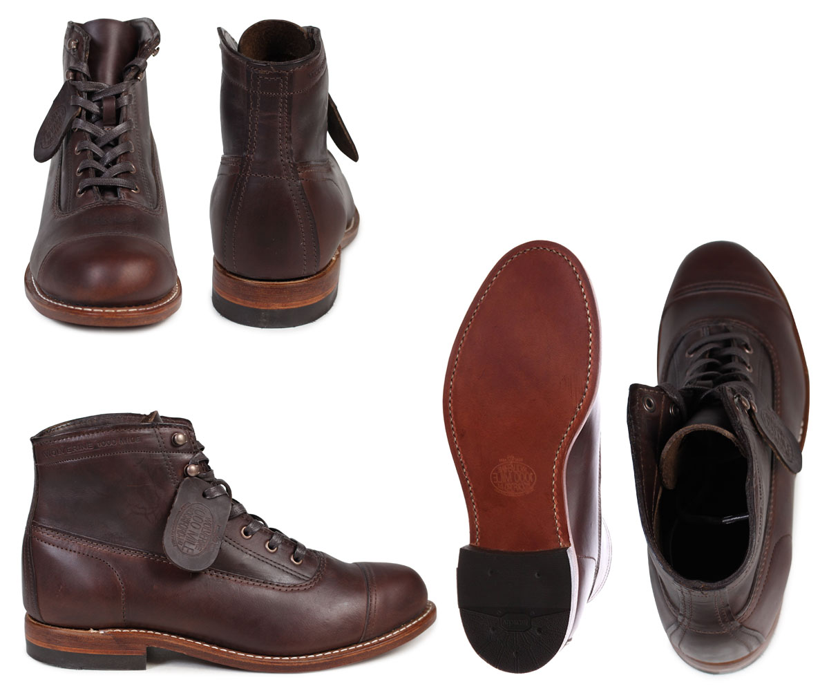 1a5f41f7c50 WOLVERINE Wolverene 1,000 miles boots ROCKFORD 1000 MILE CAP-TOE BOOT D  Wise W05293 brown work boots men