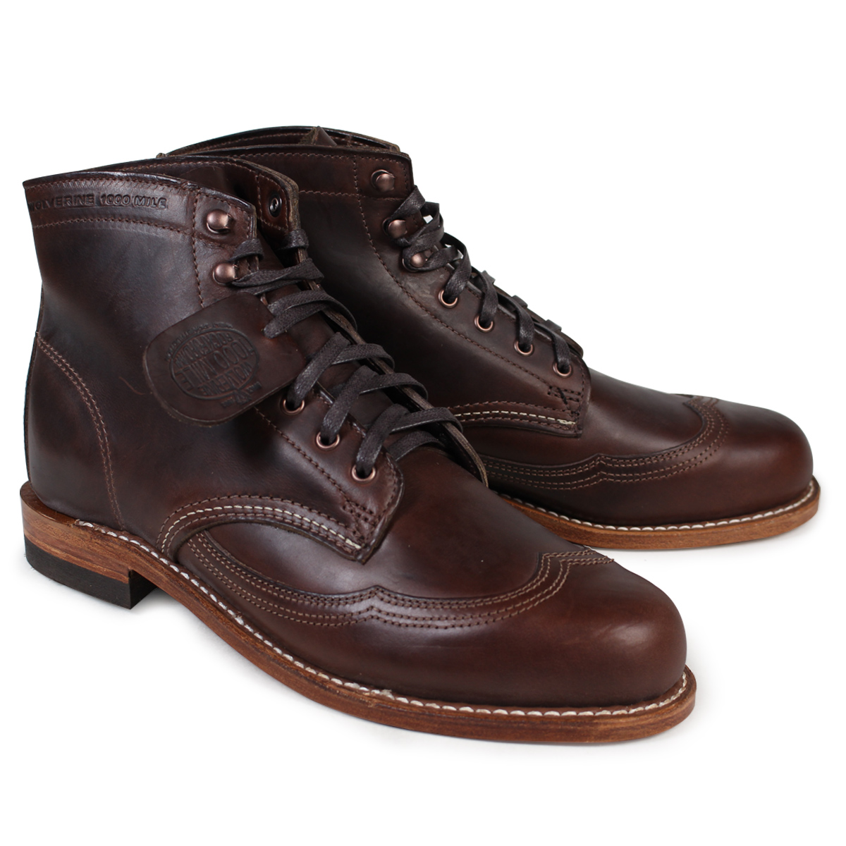 Forum on this topic: Men's Wolverine Addison 1000 Mile Wingtip Boots , mens-wolverine-addison-1000-mile-wingtip-boots/