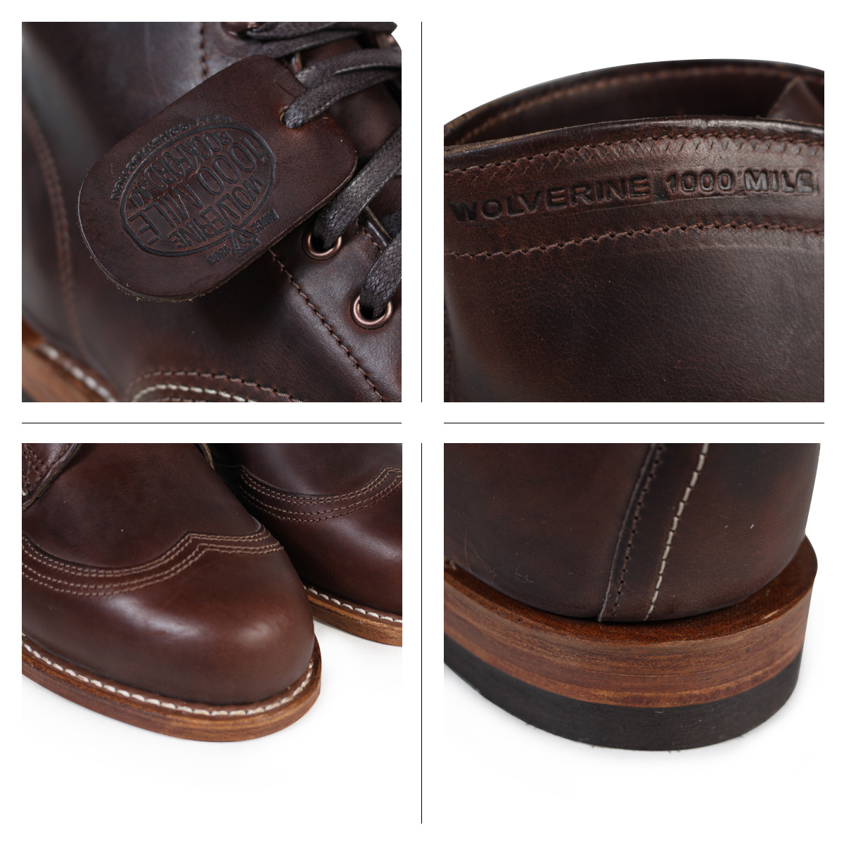 35c3febfc1c WOLVERINE Wolverene 1,000 miles boots ADDISON 1000MILE WINGTIP BOOT D Wise  W05342 brown wing tip work boots men