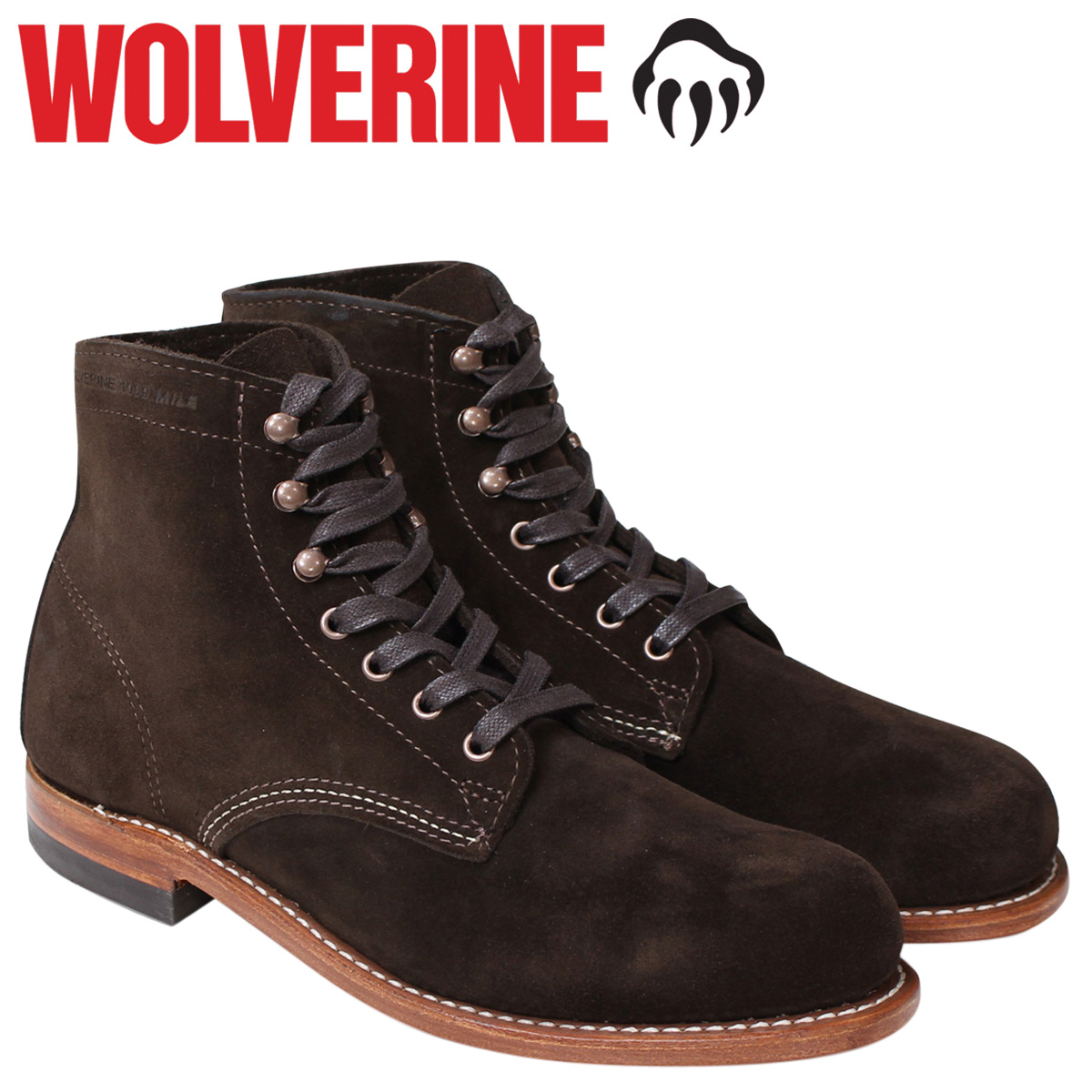 WOLVERINE ウルヴァリン 1000 MILE BOOT 1000マイル ブーツ 1000MILE ワークブーツ メンズ Dワイズ W40093 ダークブラウン