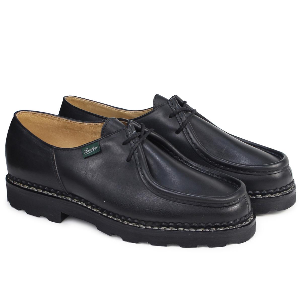PARABOOT MICHAEL パラブーツ ミカエル シューズ チロリアンシューズ 715604 メンズ レディース 靴 ブラック [4/7 追加入荷]