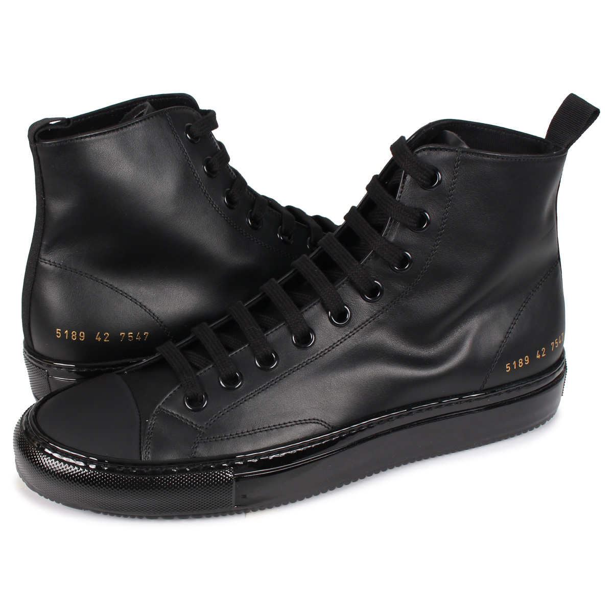 Common Projects TOURNAMENT HIGH IN LEATHER コモンプロジェクト トーナメント ハイ スニーカー メンズ ブラック 黒 5189-7547 [4/2新入荷]