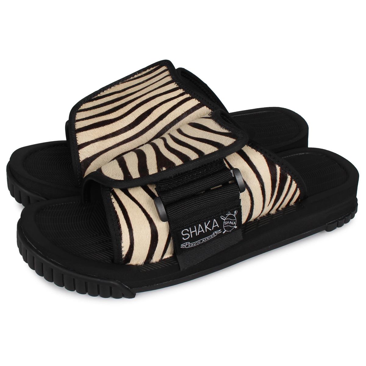 SHAKA X-PACKER COWHAIR シャカ サンダル スライドサンダル エックスパッカー カウヘアー メンズ レディース ゼブラ ホワイト 白 433153 [4/23 新入荷]