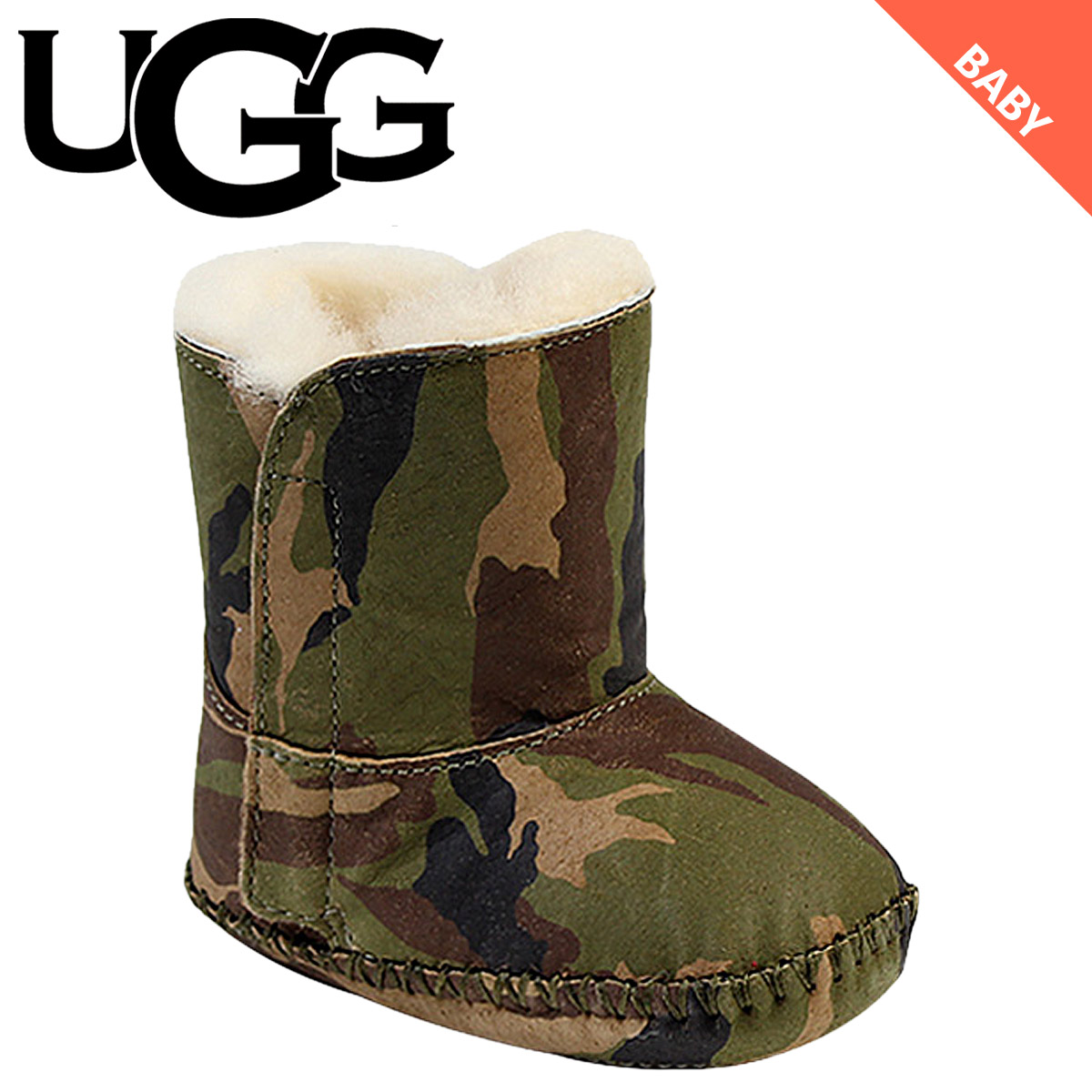 329b8663194 UGG UGG baby Kaden duck boots INFANTS CADEN CAMO 10040931 Sheepskin baby  shoes kids