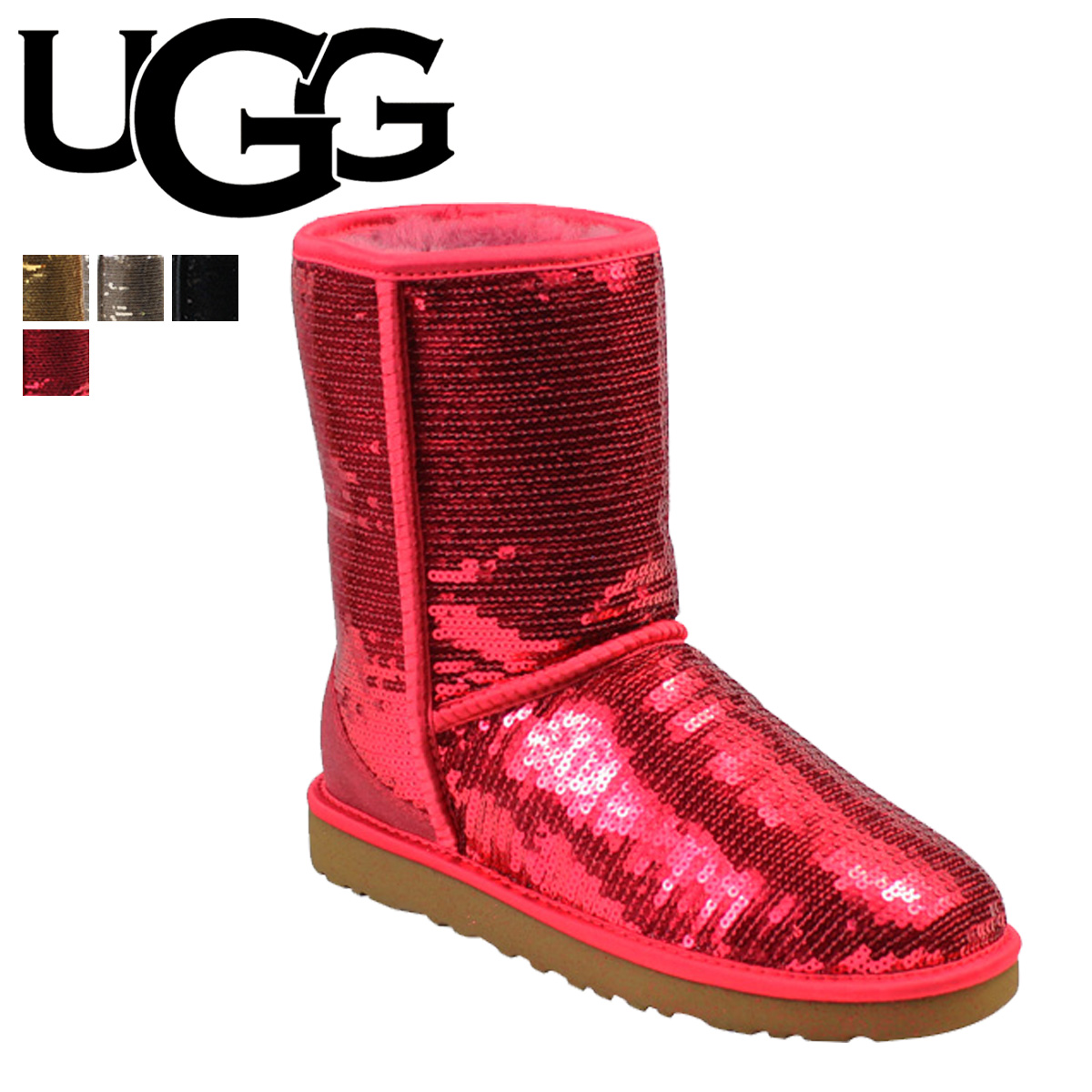 cedc3266e38 UGG Ugg Classic short Shearling boots WOMENS CLASSIC SHORT SPARKLES 3161  Sheepskin ladies