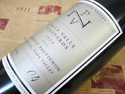 ダラ ヴァレ カベルネソーヴィニヨン[1999] オークションラベルDalla Valle CabernetSauvignon[1999] Auction Label