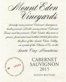 ■【お取寄せ】マウント エデン カベルネソーヴィニヨン エステイト[2015] [ ワイン 赤ワイン カリフォルニアワイン サンタクルーズマウンテン ]