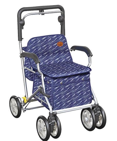 ユーメイトFX 【サーフブルー】 シルバーカー 歩行器 品番062307