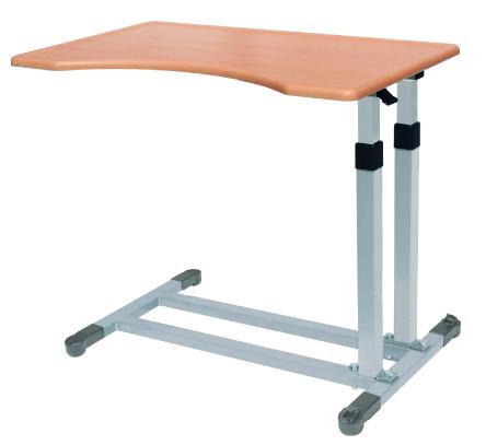 ベッドサイドテーブルFL2 【No.712】・ガス圧シリンダシリーズ/ 医療・介護・施設・自宅・ベッド用品・大型縁段付きで、低床ベッドに対応