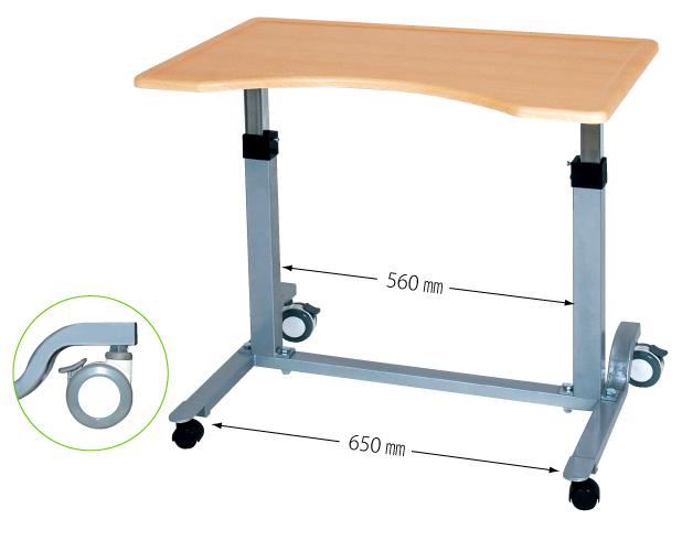 介護テーブル 【No.713】・板ばねシリーズ/ 医療・介護・施設・自宅・ベッド用品・ベッドサイドテーブル・※ベッドでの使用は端座位でのご使用になります。