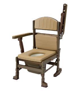 【たため~る】肘はね上げ袋タイプ 品番:8052 ・ポータブルトイレ・排泄関連商品・介護・医療・在宅・ご家庭・施設・