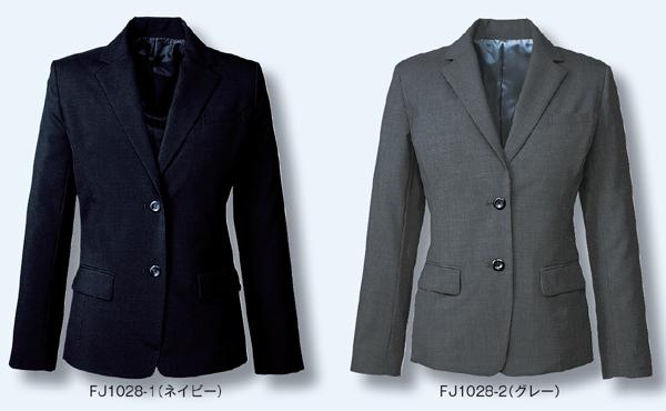10点選び割引レディス ジャケット ビジネスウェア 事務服ジャケット FJ1028 (21号・23号)フォーク (FOLK) お取寄せ