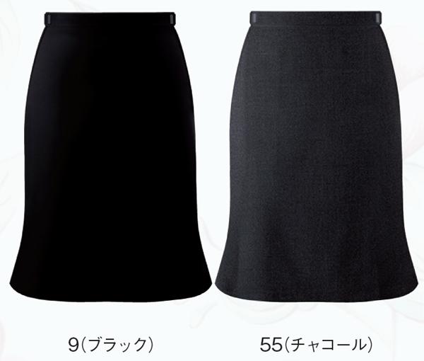 10点選び割引スカート ボトムス ビジネスウェア 事務服アジャスター付マーメードスカート FS45738 (21号・23号)フォーク (FOLK) お取寄せ