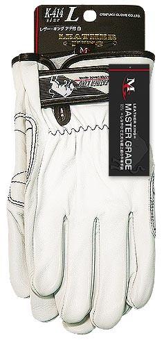 10点選び割引 おたふく手袋 牛革クレスト手袋 アテ付 レザーキング 10個セット K-414 サイズ:M・L 作業服・作業着・作業用品・手袋 お取寄せ