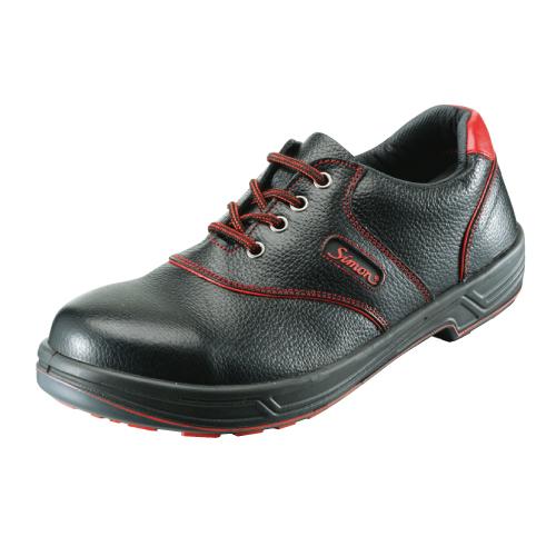 10点選び割引 安全靴 作業靴 セーフティシューズ SL11-R 黒/赤 (23.5~28.0cm(EEE)) シモンライトシリーズ SX3層底 短靴 シモン(Simon) お取寄せ 【返品交換不可】