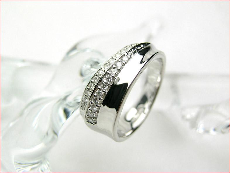 【送料無料1225】 ダイヤモンドリング 指に巻きつくようなデザイン プラチナ900