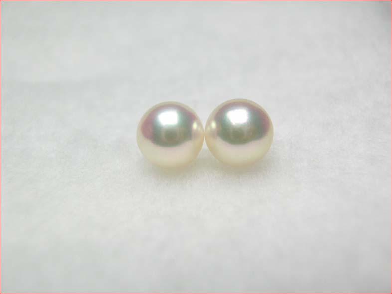 ピンクあこや真珠 きれいなそろった7.4ミリペア PUP090713MJ10 10P21Jul09