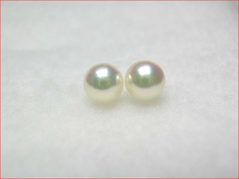 ピンク アコヤ真珠 きれいなそろった7.2ミリペアルース 0126PUP10F