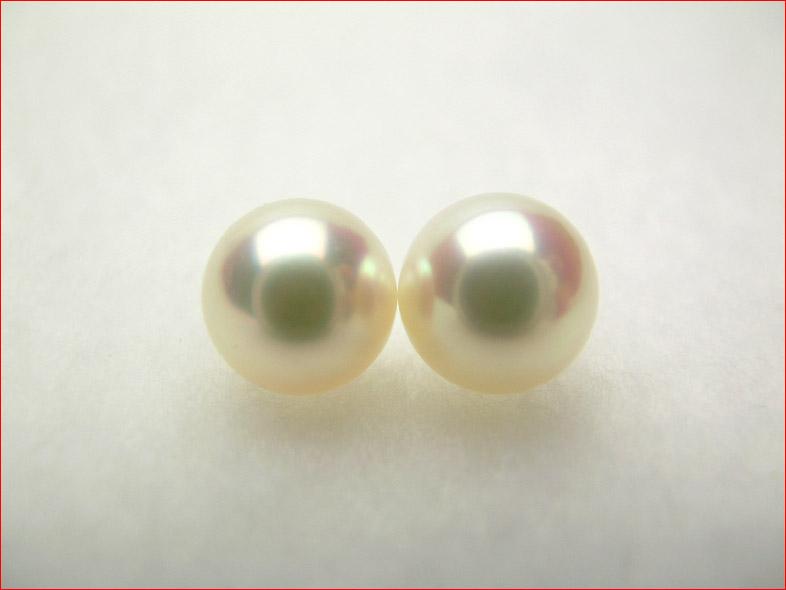 ピンク 0619PUP10JU きれいにそろった7.9ミリペア あこや真珠 マキのしっかりした