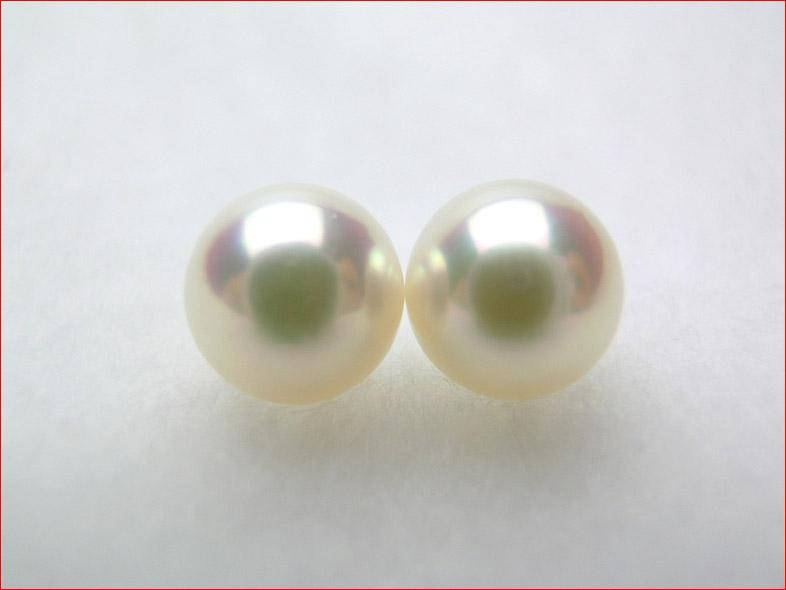 ピンクあこや真珠 マキのしっかりした きれいにそろった7.6ミリペアルース【saletolai0116】