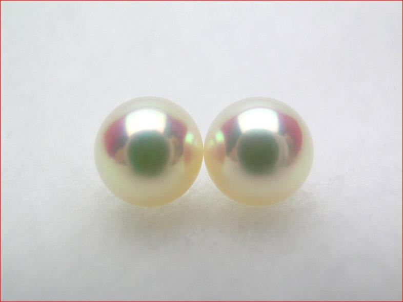 ピンク あこや真珠 マキのしっかりした きれいにそろった7 5ミリペアルース PUP090713MJ10dCBWerox