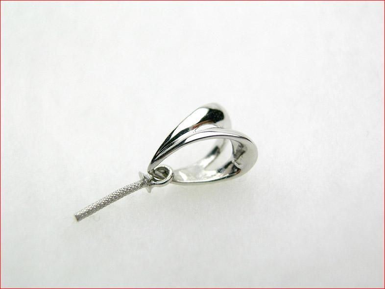 再入荷!K18ホワイトゴールド パールペンダントトップ用パーツ ダイヤはいらないけど少しデザインがほしい方向け!