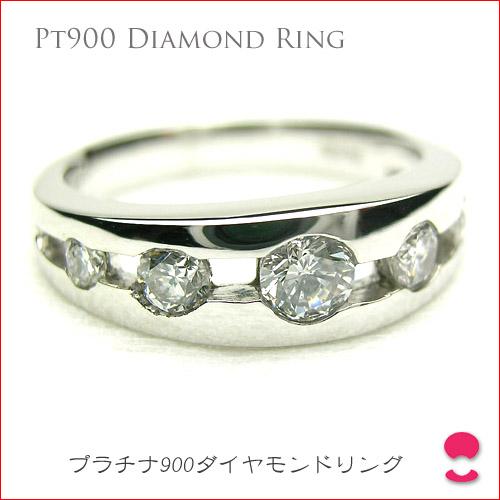 センターダイヤモンド0.22ct サイドは合計0.33ct 引っ掛かりのない プラチナダイヤモンドリングPUP090713MJ10
